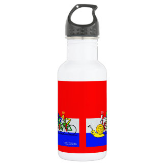 See the snail, what a pace stainless steel water bottle