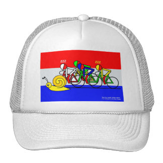 See the snail, what a pace trucker hat