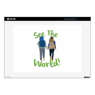 """See The World Decals For 15"""" Laptops"""