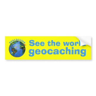 See the World Geocaching Earth with Flags Car