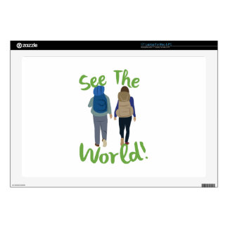 """See The World Skins For 17"""" Laptops"""