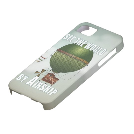 See the World Vintage Travel Airship Steampunk Art iPhone SE/5/5s Case