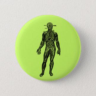 See Through Man Pinback Button