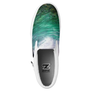 Beach Themed See Through The Ocean Coral Slip-On Sneakers