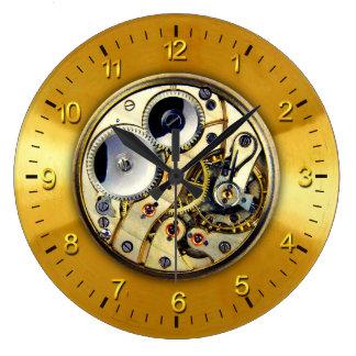 See-thru Watch Mechanism Large Clock