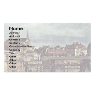 See View From The Old Moat Of The Dresden Zwinger, Double-Sided Standard Business Cards (Pack Of 100)