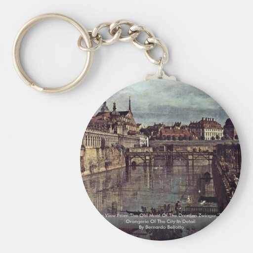 See View From The Old Moat Of The Dresden Zwinger, Keychains