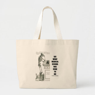 See What Medical School Has Done To Me (Skeleton) Tote Bags