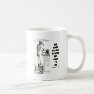 See What Medical School Has Done To Me (Skeleton) Mugs