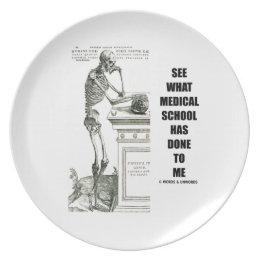 See What Medical School Has Done To Me (Vesalius) Melamine Plate