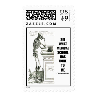 See What Medical School Has Done To Me (Vesalius) Postage Stamp