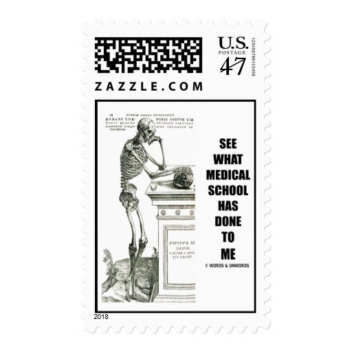 See What Medical School Has Done To Me (Vesalius) Postage Stamp