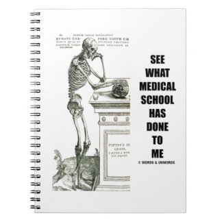 See What Medical School Has Done To Me (Vesalius) Spiral Notebook
