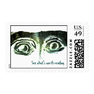 """See What's Worth Reading"" Eyes Stamp"