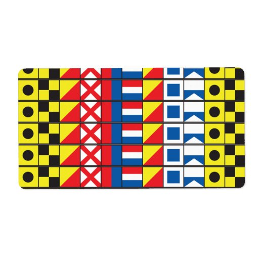 See Worthy_Signal Flags_I love to sail Custom Shipping Labels