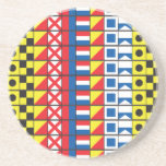 See Worthy_Signal Flags pattern_I Love to sail Beverage Coaster