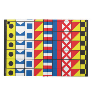 See Worthy_Signal Flags pattern_I Love to Sail iPad Air Covers