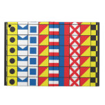 See Worthy_Signal Flags pattern_I Love to Sail iPad Cases