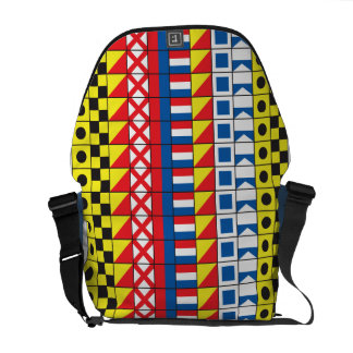 See Worthy_Signal Flags pattern_I Love To Sail Messenger Bag