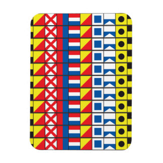 See Worthy_Signal Flags pattern_I Love to sail Rectangular Magnets