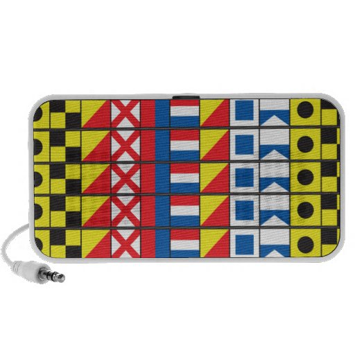 See Worthy_Signal Flags pattern_I Love to sail Travel Speaker