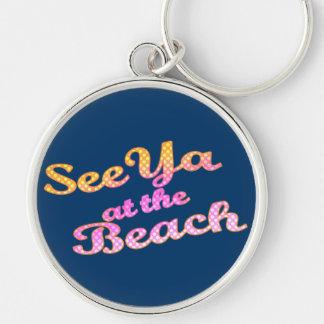 See Ya at the Beach Keychain