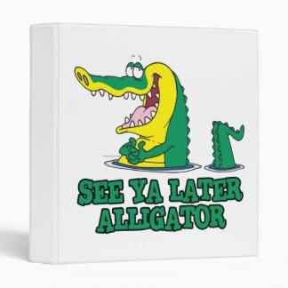 see ya later alligator 3 ring binders