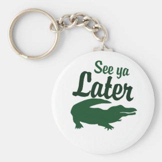 See ya later alligator basic round button keychain