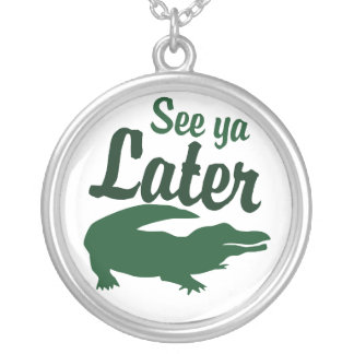See ya later alligator personalized necklace