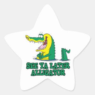 see ya later alligator star sticker