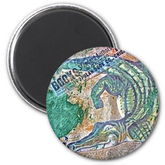 See Ya Later Gator, After Awhile Croc Mixed Media 2 Inch Round Magnet