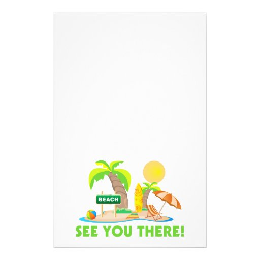 See You At The Beach Personalized Stationery