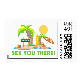 See You At The Beach Postage