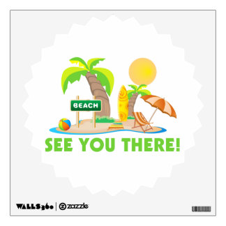 See You At The Beach Wall Decal