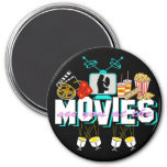 See You At The Movies - Dark Background 3 Inch Round Magnet