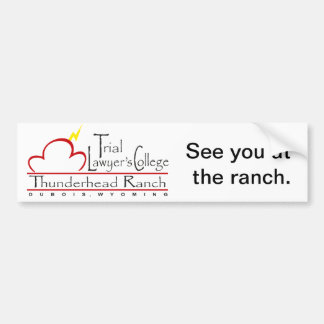"""See you at the ranch"" bumper sticker. Car Bumper Sticker"