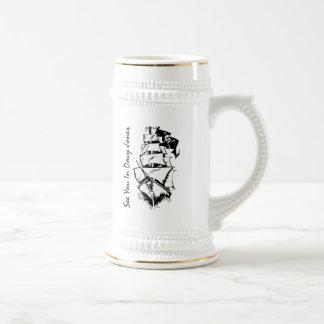 See You In Davy Jones 18 Oz Beer Stein