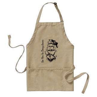 See You In Davy Jones Adult Apron
