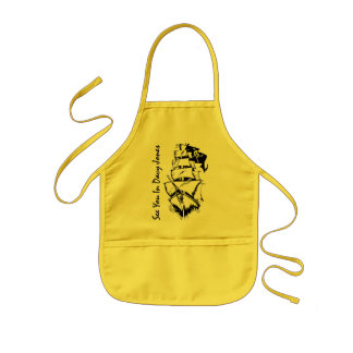 See You In Davy Jones Kids' Apron