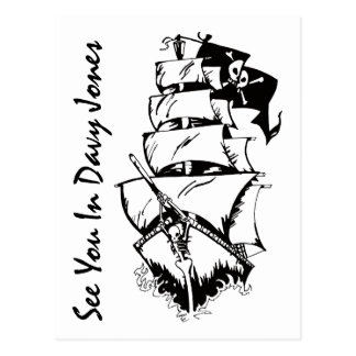 See You In Davy Jones Postcard