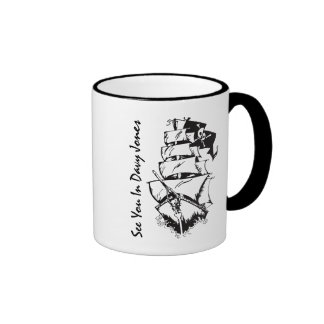 See You In Davy Jones Ringer Coffee Mug