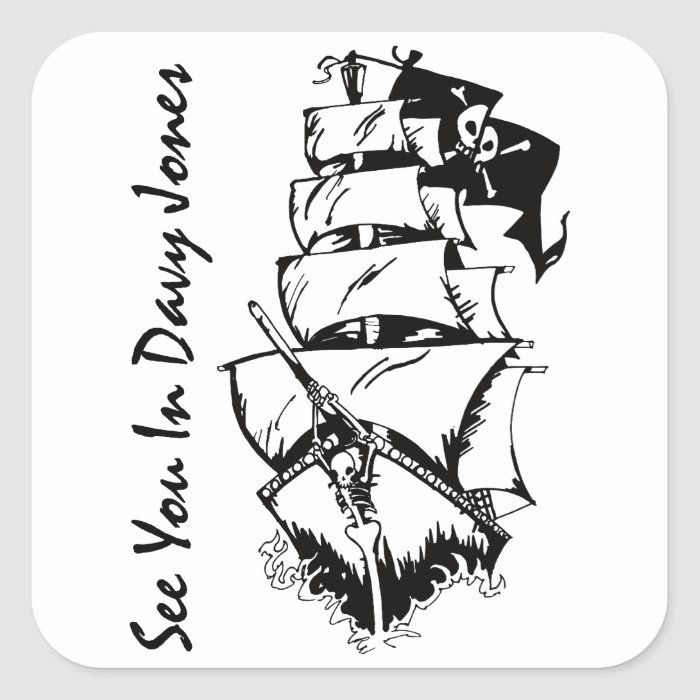 See You In Davy Jones Square Sticker