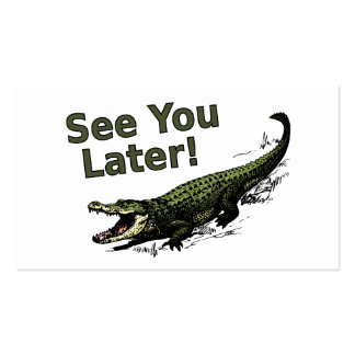 See You Later Alligator Business Card Template