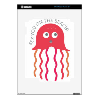 See you On The Beach iPad 2 Decal