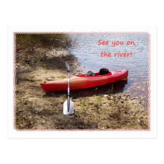 See You on the River Postcard