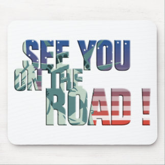 see you on the road trucker usa flag mauspad