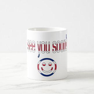 See you Soon! Britain Flag Colors Coffee Mug