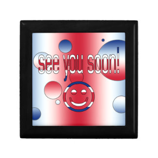 See you Soon! Britain Flag Colors Pop Art Gift Boxes