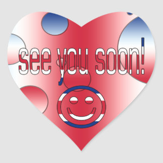 See you Soon! Britain Flag Colors Pop Art Heart Sticker
