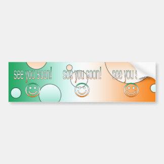 See you Soon! Ireland Flag Colors Pop Art Bumper Sticker